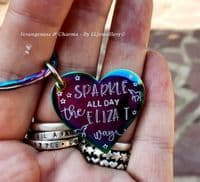 Eliza T Keyring - Sparkle All Day, The Eliza T Way
